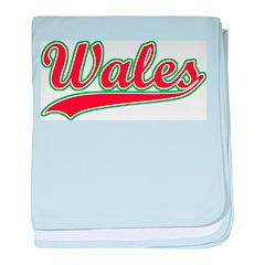 Retro Wales baby blanket