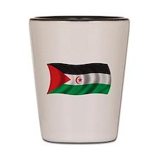 Wavy Western Sahara Shot Glass
