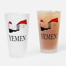 Map Of Yemen Pint Glass
