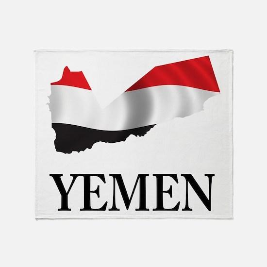 Map Of Yemen Throw Blanket