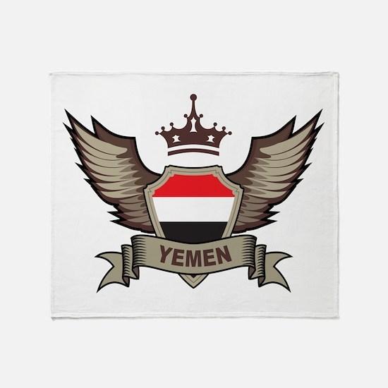 Yemen Emblem Throw Blanket
