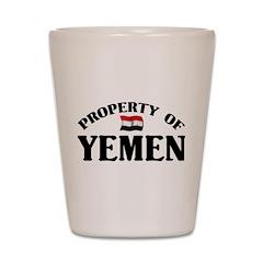 Property Of Yemen Shot Glass