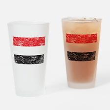 Vintage Yemen Flag Pint Glass