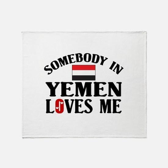 Somebody In Yemen Throw Blanket