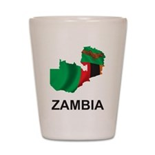 Map Of Zambia Shot Glass