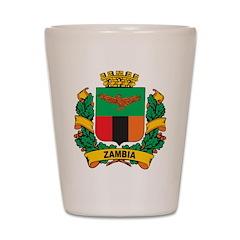 Stylish Zambia Crest Shot Glass