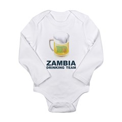 Zambia Drinking Team Long Sleeve Infant Bodysuit