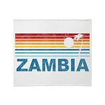 Retro Palm Tree Zambia Throw Blanket