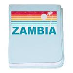Retro Palm Tree Zambia baby blanket