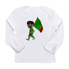 3D Zambia Long Sleeve Infant T-Shirt
