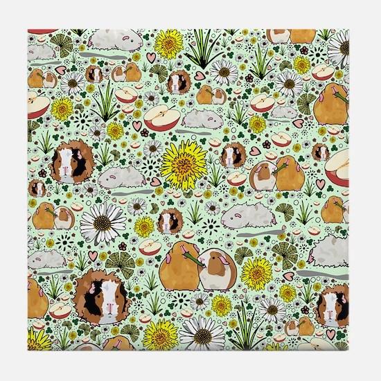 Funny Guinea pigs Tile Coaster
