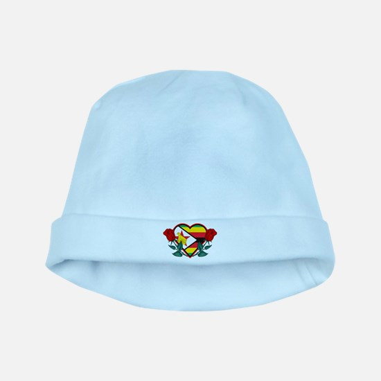 Heart Zimbabwe baby hat