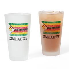 Vintage Zimbabwe Pint Glass