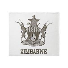Vintage Zimbabwe Throw Blanket