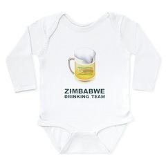 Zimbabwe Drinking Team Long Sleeve Infant Bodysuit