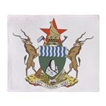 Zimbabwe Coat Of Arms Throw Blanket