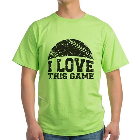 I Love This Game Green T-Shirt
