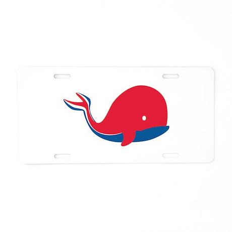 Cruise Ship Whale Aluminum License Plate