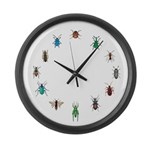 Bug circle Large Wall Clock