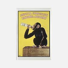 Drinking Monkey Rectangle Magnet