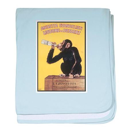 Drinking Monkey baby blanket