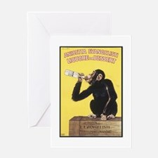 Drinking Monkey Greeting Card
