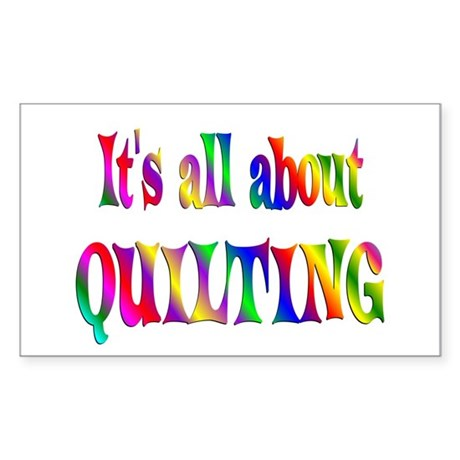 About Quilting Sticker (Rectangle)