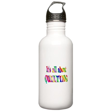 About Quilting Stainless Water Bottle 1.0L