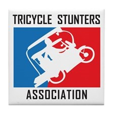 Tricycle Stunters Association Tile Coaster