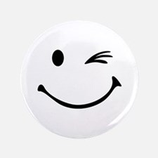"Smiley wink 3.5"" Button"