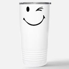 Smiley wink Travel Mug