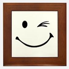 Smiley wink Framed Tile