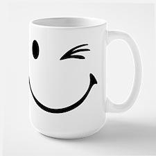 Smiley wink Large Mug