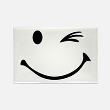 Smiley wink Rectangle Magnet