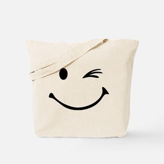 Smiley wink Tote Bag