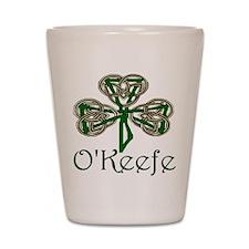 O'Keefe Shamrock Shot Glass