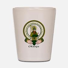 O'Keefe Clan Motto Shot Glass