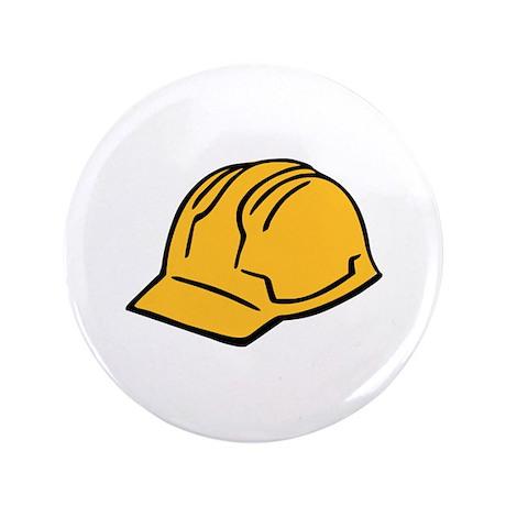 "Hard hat construction helmet 3.5"" Button"