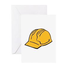 Hard hat construction helmet Greeting Card