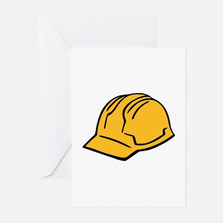 Hard hat construction helmet Greeting Cards (Pk of
