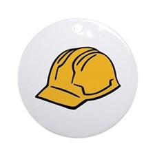 Hard hat construction helmet Ornament (Round)