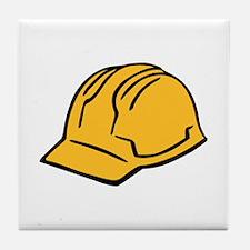 Hard hat construction helmet Tile Coaster