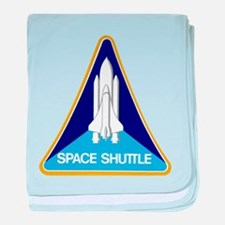 Original Space Shuttle Insignia baby blanket