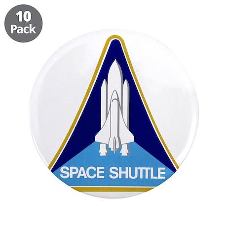 """Original Space Shuttle Insignia 3.5"""" Button (10 pa"""