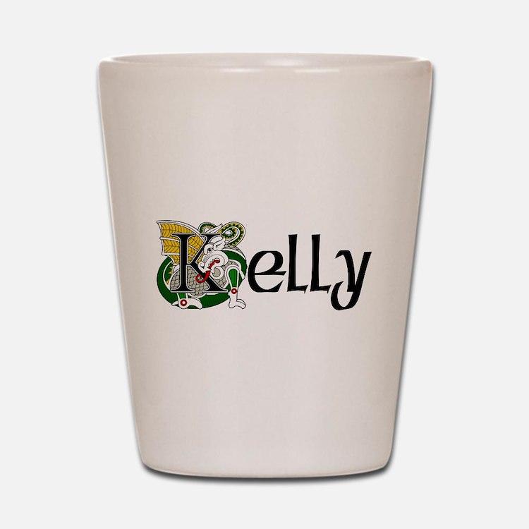 Kelly Celtic Dragon Shot Glass