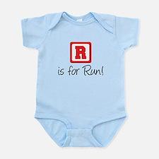 R Is For Run Infant Bodysuit