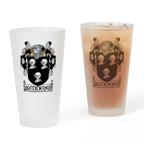 Kennedy Coat of Arms Pint Glass