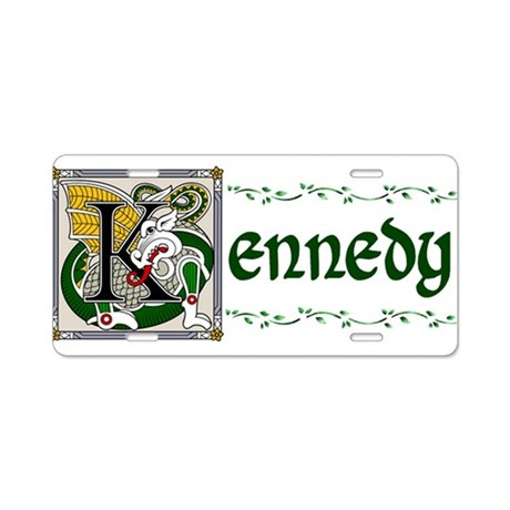 Kennedy Celtic Dragon Aluminum License Plate