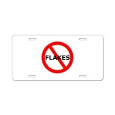 No Flakes Aluminum License Plate