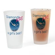 Diamonds ARE a girl's best fr Pint Glass